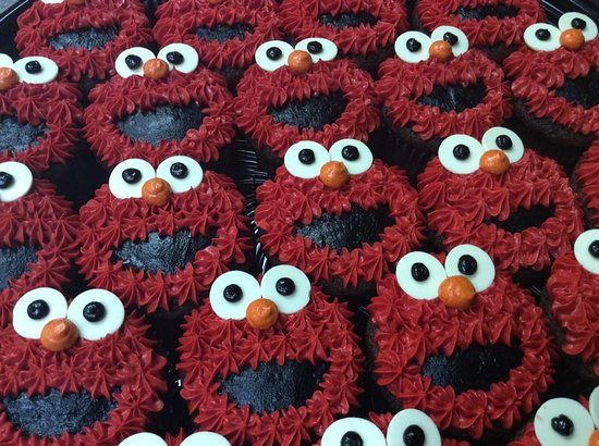 Elmo Cupcakes Picture Of The Welsh Kitchen Bakery Weyburn