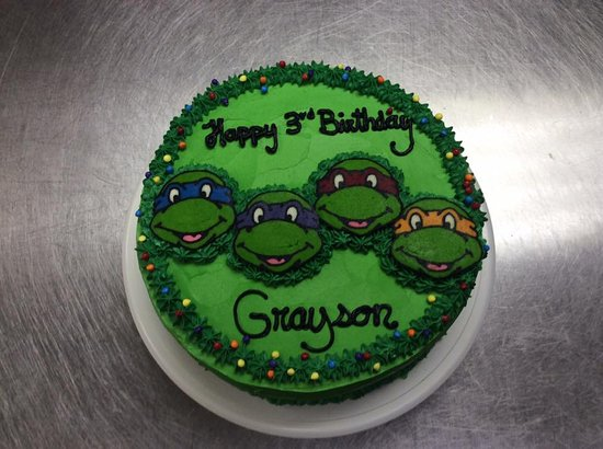 Phenomenal Ninja Turtles Birthday Cake Picture Of The Welsh Kitchen Funny Birthday Cards Online Fluifree Goldxyz
