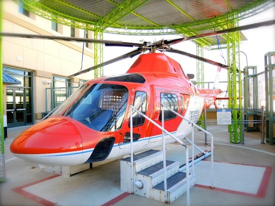 Real Intermountain Life Flight Helicopter At Discovery Gateway