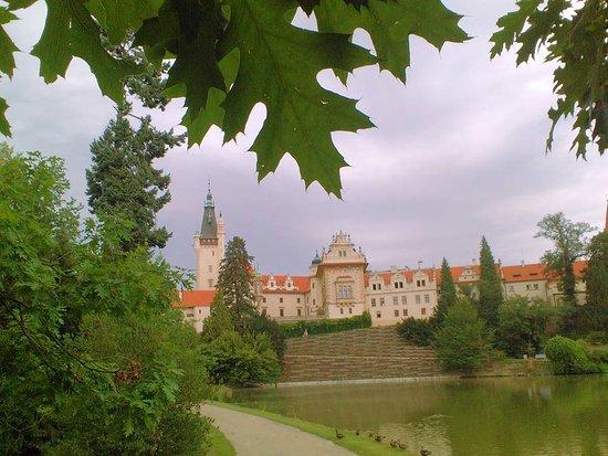Průhonice, Republik Ceko: Schloss in Průhonický