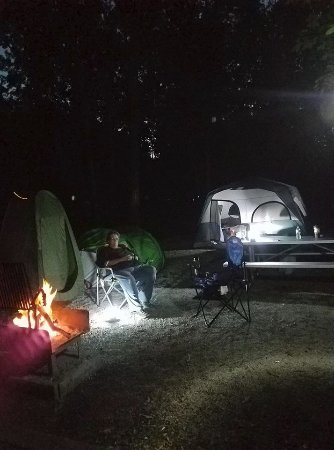 Campsite 43 at Opossum Creek Campground at Lake Shelbyville, Il
