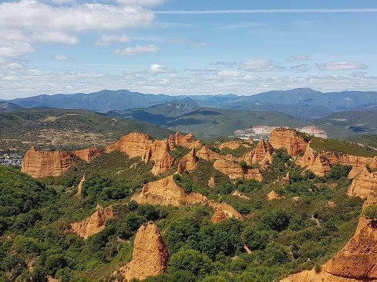 Las Medulas, Spania: Vista panorámica de Las Médulas