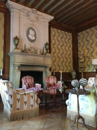 Chateau de Mirambeau: Salon et salle de lecture