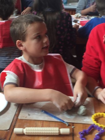 Middleport Pottery - Home of Burleigh: Grandson enjoying modelling with clay