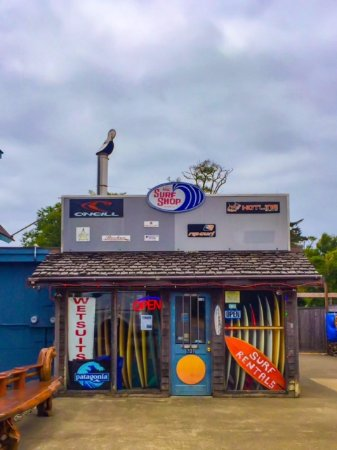 The Surf Shop Westport: Rental Area is on the side and prices are good!