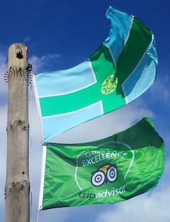 Ripley, UK: Trip Advisor flag in Derbyshire