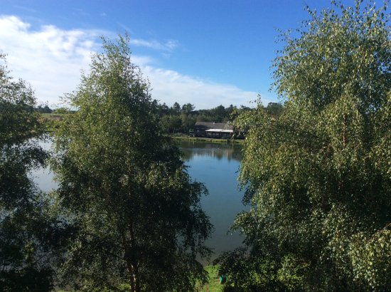 Forbes of Kingennie Country Resort: View from balcony of Glen Lyon Lodge
