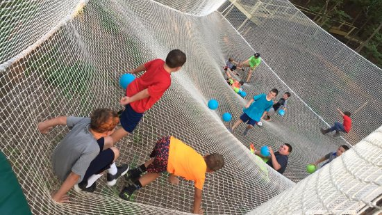 Winona, MS: Treetop Net Trampoline Dodge Ball