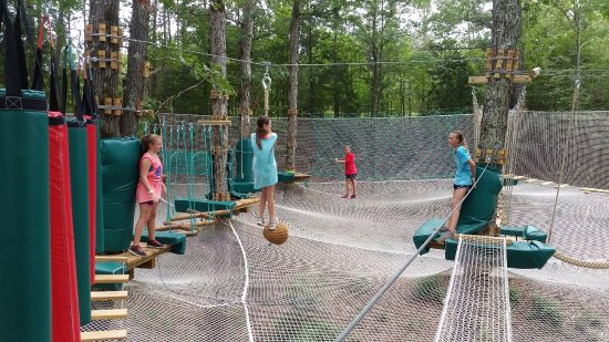 Winona, MS: Spider Quest Aerial Net Obstacle Course
