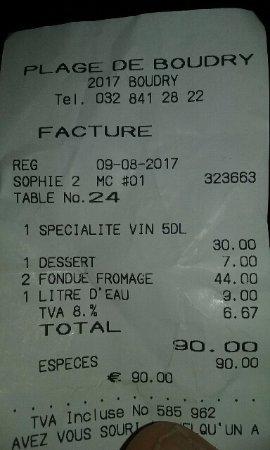 Café Restaurant Plage de Boudry: 9 Euro per una bottiglia di acqua
