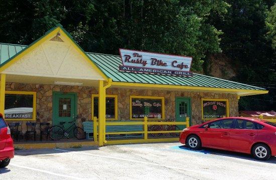 The Rusty Bike Cafe in Clayton GA (July 2017).