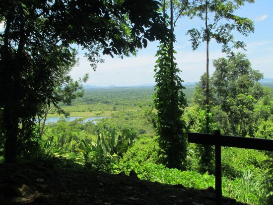 Toledo District, Belize: view from the edge of the site