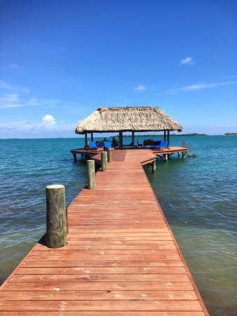 Chabil Mar: Private dock for the hotel