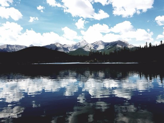 Bragg Creek, Canada: reflection shot!