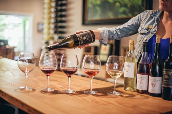 Forestville, CA: Taste our flight of wines in out Tasting Lounge