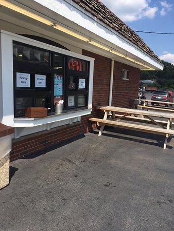 Worthington, OH: It's okay to drip ice cream on the black top!