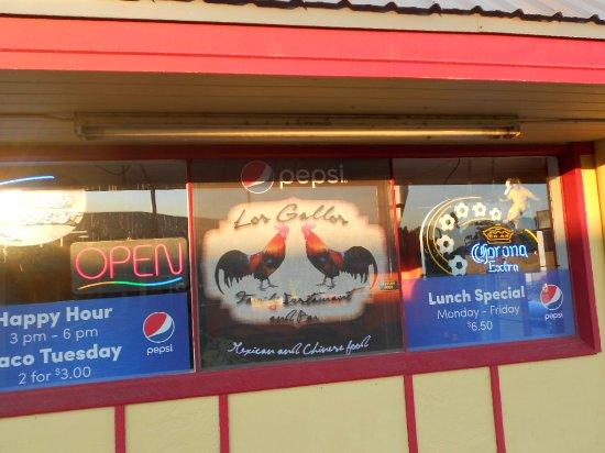 Omak, WA: Los Gallos - front window