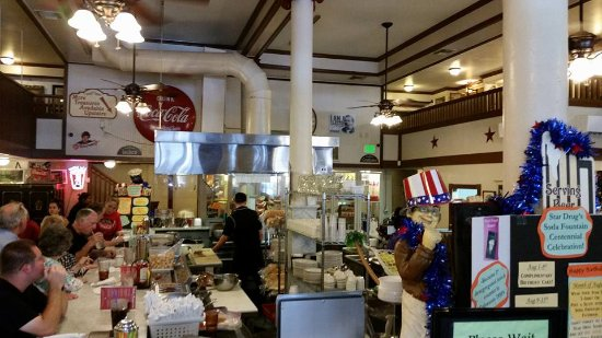Star Drug Store: Interior showing counter and cooks