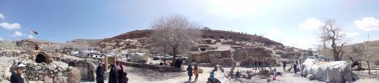 Maymand, Iran: A panaroma from Meymand during Nowruz holidays