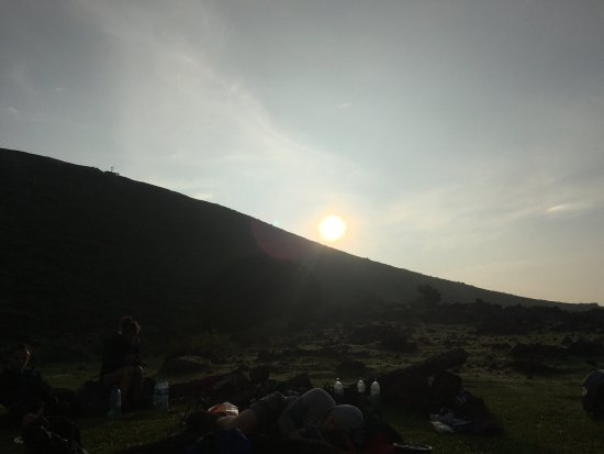 Quetzaltrekkers - Day Tours: Sun rising over the volcano