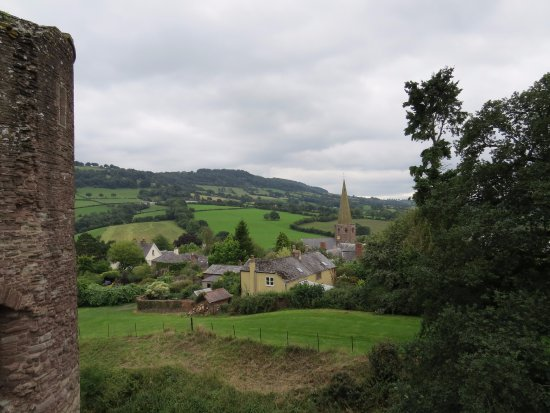 Grosmont, UK: View from top of castle wall