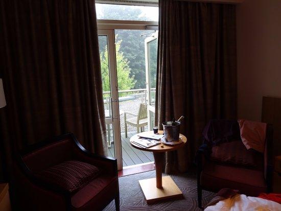 Fota Island, Ireland: Afternoon view towards balcony