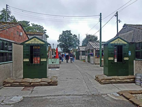 Malton, UK : The mock-up entrance to the camp