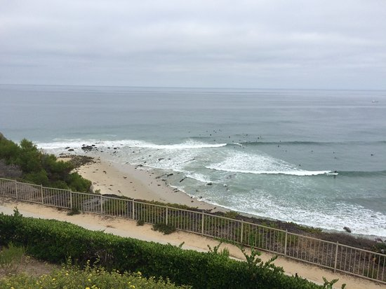 The Ritz-Carlton, Laguna Niguel: View from the resort of the surfers.