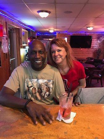 Lander, WY: Enjoying adult beverages at the bar...