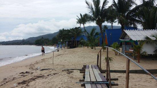 New Hut Bungalows: La plage