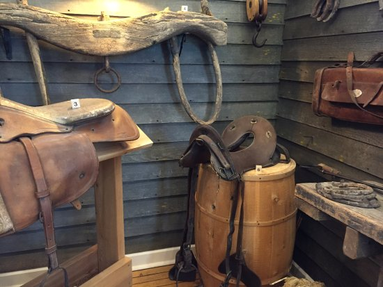 Fort Totten, ND: Oxen yoke - old army saddles