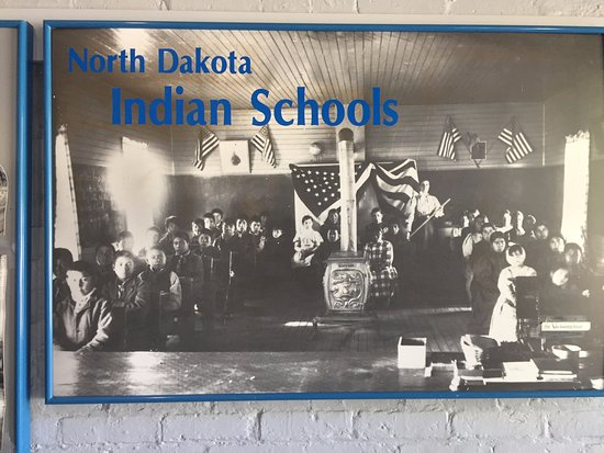 Fort Totten, ND: On display were some interesting photos of the children at school