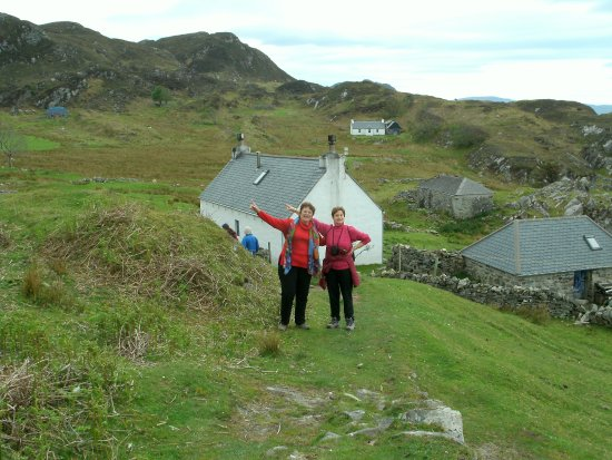 Glenuig, UK: We are pointing to the top of the ridge where we started.