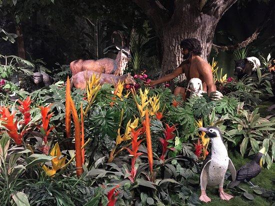 Petersburg, KY: a display showcasing Adam in the Garden of Eden