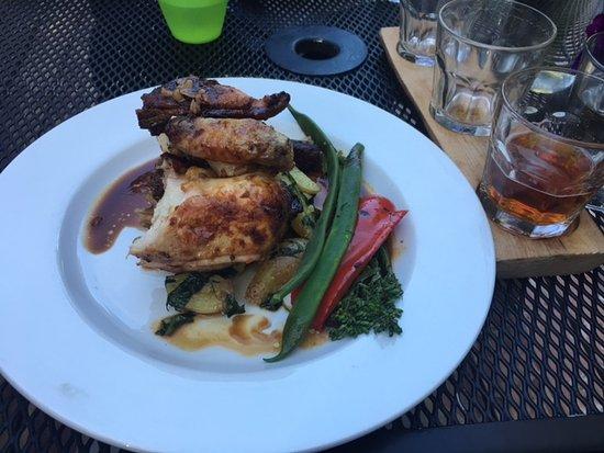 Roberts Creek, Canada: Cornish hen with veg