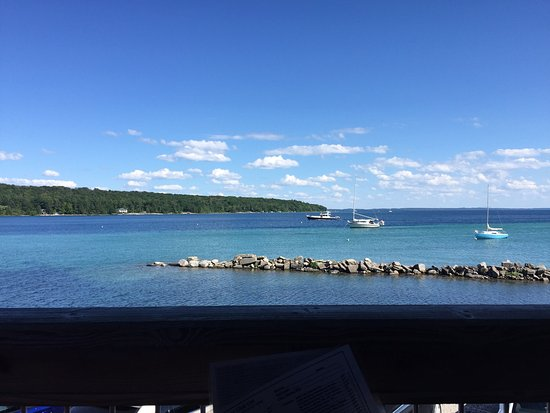 Omena, MI: View from table