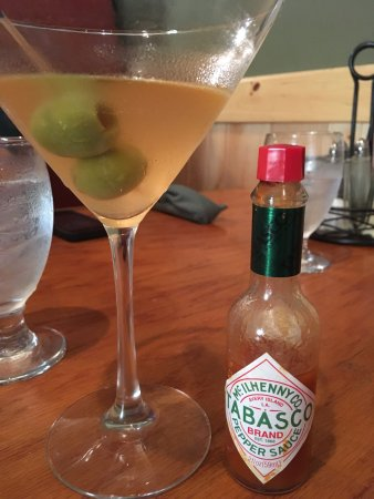 Peru, NY: A hot and dirty martini by adding Tabasco sauce