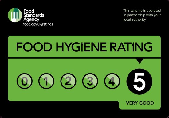 Parkend, UK: Food hygiene certificate.