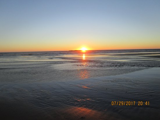Otter Rock, Oregón: Sunset on Beverly Beach