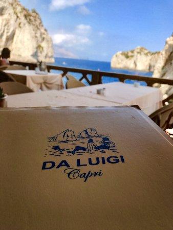 La Fontelina: Você pode aproveitar o dia do passeio de barco para almoçar no Da Luigi, fica ao lado do la font
