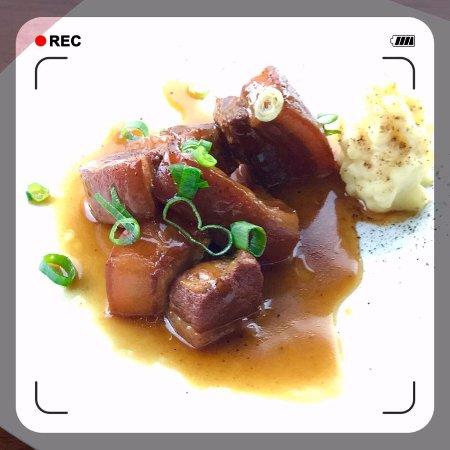 Palmwoods, Αυστραλία: Pork Belly entree (special menu)