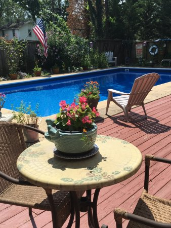 Belle Hearth Bed and Breakfast: In ground pool and deck