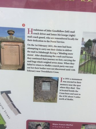 Moffat Manor Country Park : Information about the cemetery.