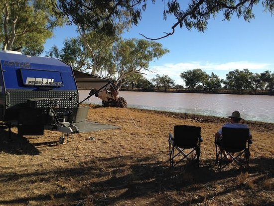 Quilpie, Australien: Lake side camping
