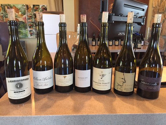 Yamhill, OR: Here are the Oregone Pinot Noirs we compared in our blind tasting at Lenne.