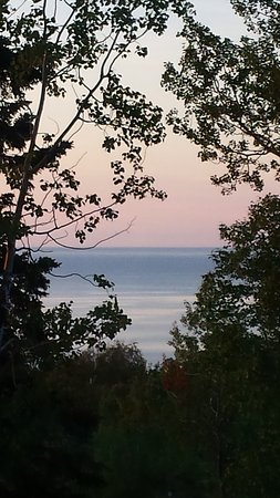 Schroeder, MN: View of Lake Superior from our room window.