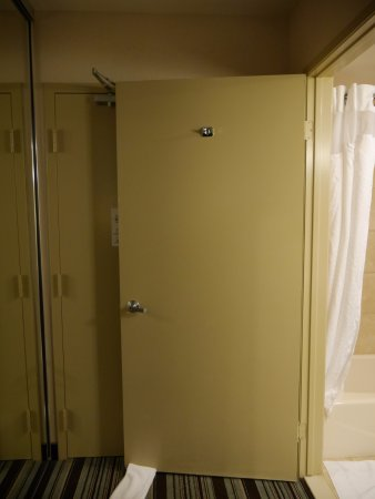 Holiday Inn Express San Diego Airport - Old Town: Bathroom door wouldn't stay open! Had to use a towel as a doorstop.