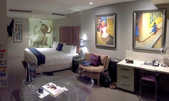 Art Series - The Blackman: This is a deluxe studio suite balcony room