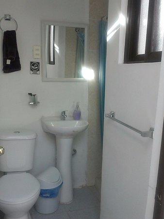 Rey Lagarto Hostel: Baño compartido