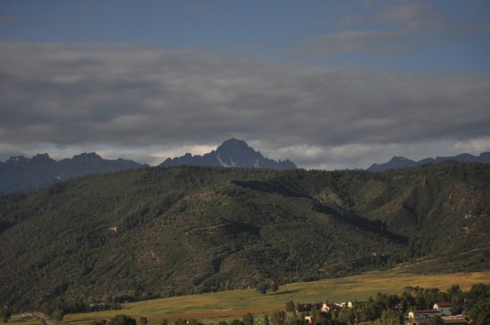 Ridgway, CO: The beautiful San Juan Mts from the basket of the balloon